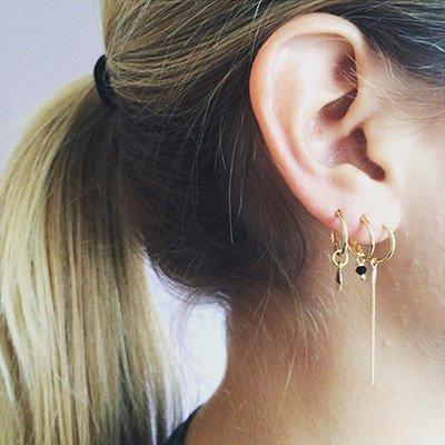 Bobby Rose Earring - Double Golden Chain