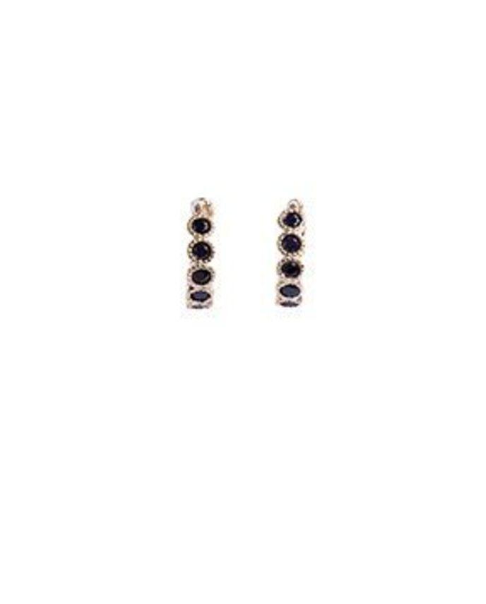 Bobby Rose Earring - Swarovski Clip Black