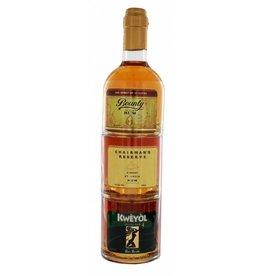 St Lucia Stackables Golden Rum 3x25 cl-US-