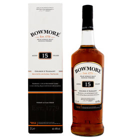Bowmore Bowmore 15YO Golden & Elegant Malt Whisky 1,0L Gift Box