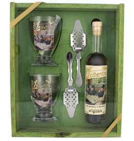 Absinthe Libertine Originale 200 ml + 2 Löffel + 2 Glasses Gift box