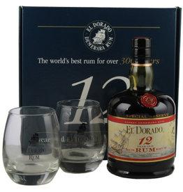 El Dorado El Dorado Rum 12 Years Old 700ml + 2 Glasses Gift box
