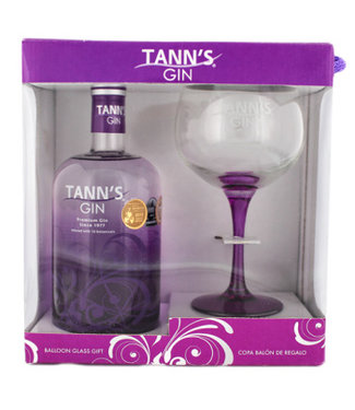 Tanns Tann's Gin Giftset 700ml + Glas Gift box