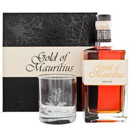 Gold of mauritius dark rum + glas 0,7L 40%