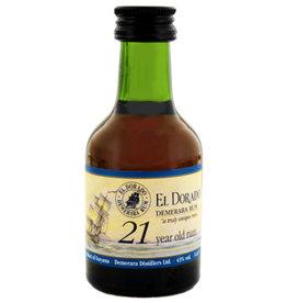 El Dorado El Dorado Rum 21 Years Old Miniatures 50ml