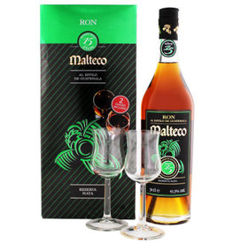 Malteco Malteco 15 years old rum + 2 glasses