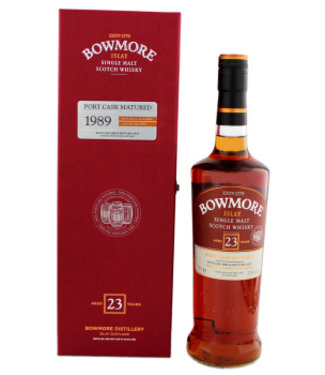 Bowmore Bowmore 23 Years Old Malt Whisky 1989 Port Cask Matured 700ml Gift Box
