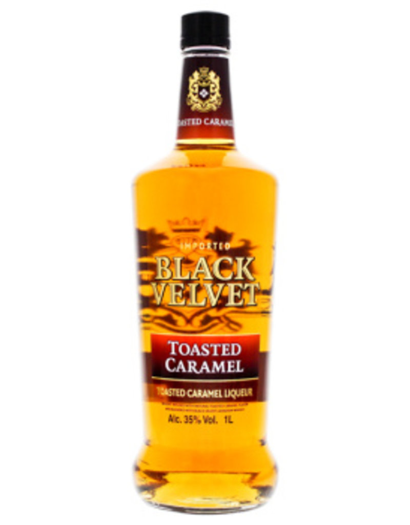 Black Velvet Toasted Caramel Liqueur 1L 35% - Luxurious Drinks™