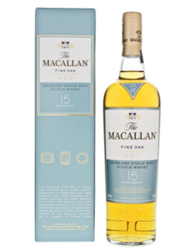 Macallan Fine Oak 15YO single malt whisky 0,7L 43%
