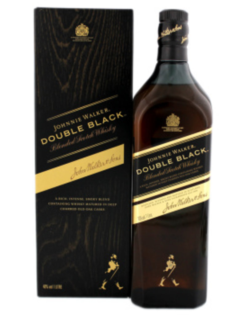 Black Label Price >> Johnnie Walker Double Black Label 1 Liter Gift Box