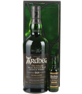 Ardbeg Ardbeg 10 Years Old Malt Whisky 700ml + Ardbeg Uigeadail 50ml Gift box