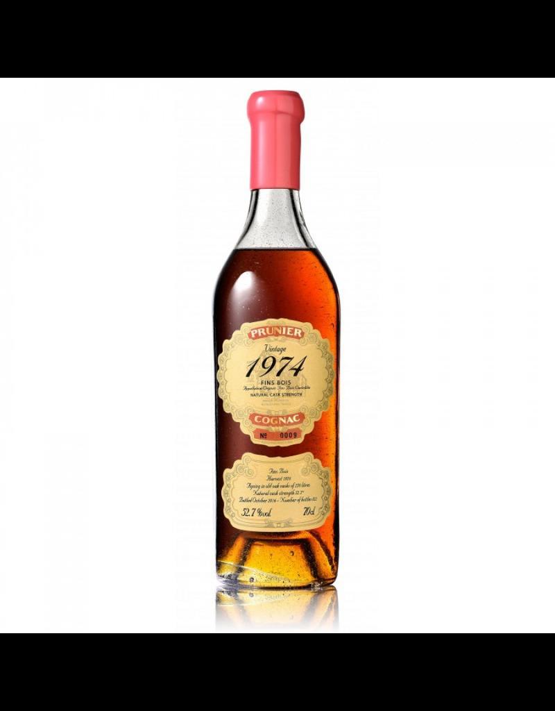 Prunier 1974 Prunier Cognac Fins Bois 52.7%