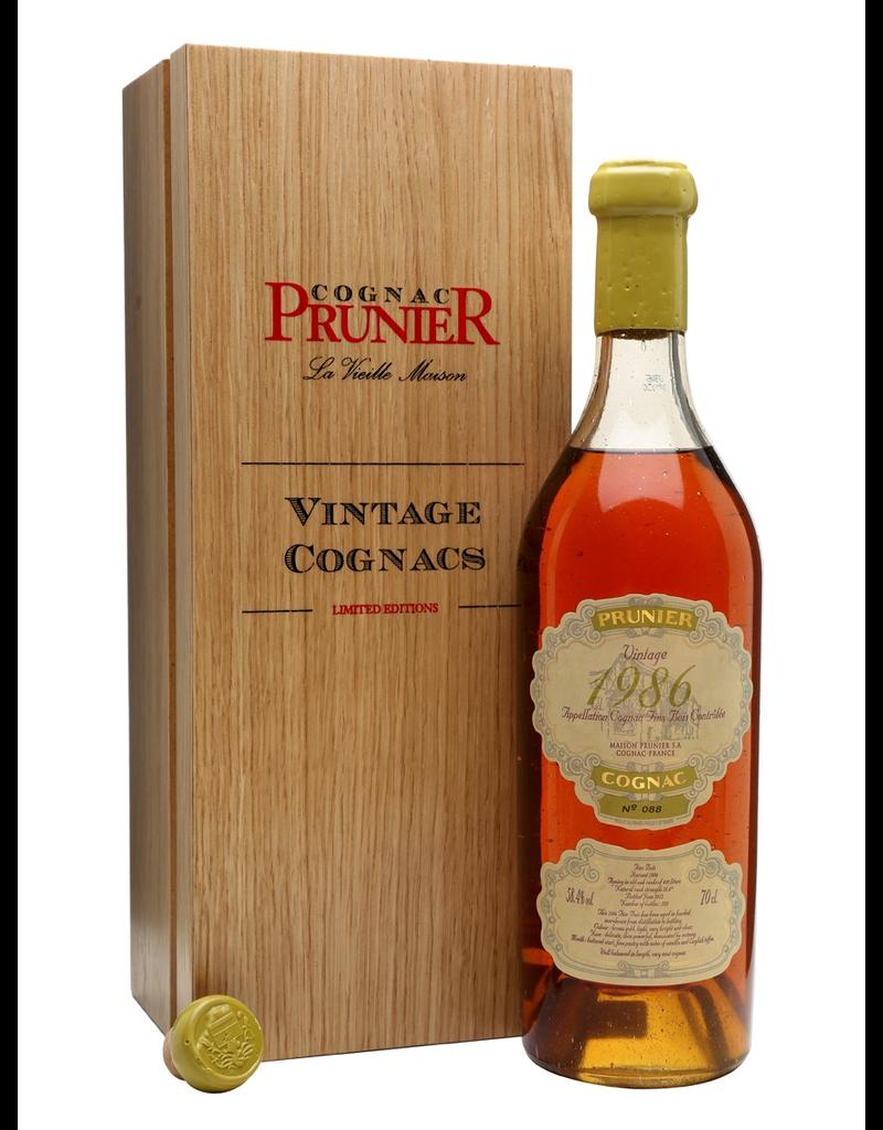 Prunier 1986 Prunier Cognac Fins Bois 58.4%