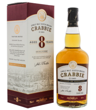 Crabbie Crabbie 8YO Highland Single Malt Scotch Whisky Non Chill Filtered 0,7L -GB-