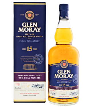 Glen Moray Glen Moray 15YO Elgin Signature Single Malt Scotch Whisky 1,0L -GB-