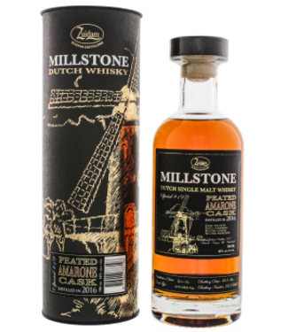 Zuidam Zuidam Millstone Single Malt Whisky Peated Amarone Cask 2016/2020 Special No. 19 0,7L -GB-