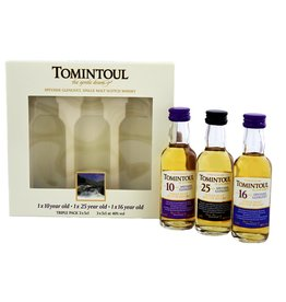 Tomintoul Tomintoul Triple Pack  10YO 16 Years Old 25 Years Old  Miniatures 3x50ml