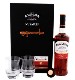 Bowmore Bowmore Darkest 15 Years Old Malt Whisky Giftset 700ml + 2 glasses Gift Box