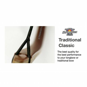 Flex Traditional Longbow Classic Dacron 2-Colors Black/Brown