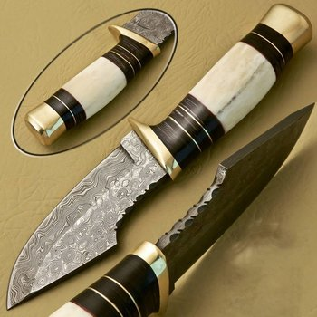 Citizen Knives Jagd Messer aus Damaskus