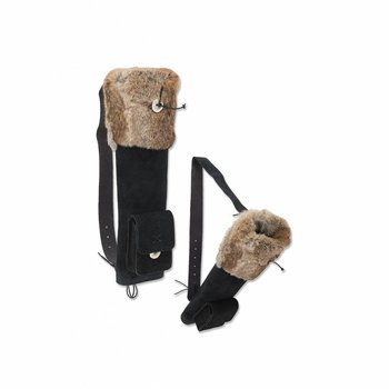 Buck Trail SMALL HUSK BLACK SUEDE WITH FUR 48cm