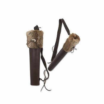 Buck Trail BIG HUSK BROWN OILY LEATHER WITH FUR 51cm