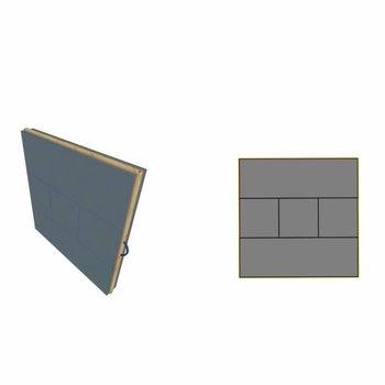 Danage A2 - 132X132X14,5CM - 4X 14.5CM - 1X CENTRE 24.5CM