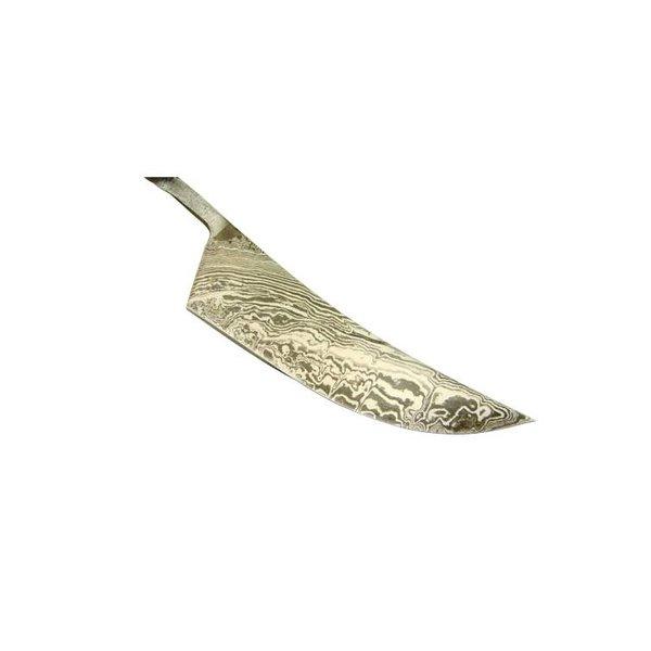 Mittelalter Messer. Handgeschmiedet von Damaskus Stahl