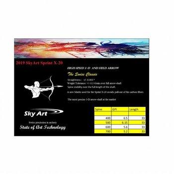 SkyArt Archery. 2019 Sprint X-20