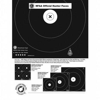 Maple Leaf NFAA Zielauflagen. Hunter Official Faces single spot