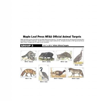 Maple Leaf Tier Zielauflage: NFAA Official Animal Target Group 3