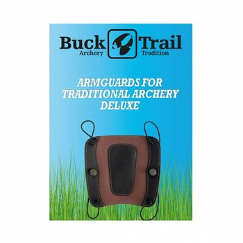 Buck Trail Armschutz DELUXE 18cm BROWN LEATHER WITH BLACK OVERLAY