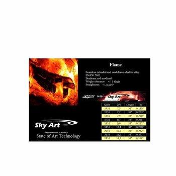 SkyArt Archery. Indoor Komplett Pfeil SkyArt Flame 2216