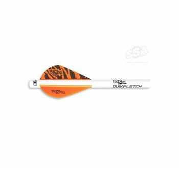 "Bohning VANES QUICKFLETCH BLAZER 2"" NEON Orange Tiger 6/PK"