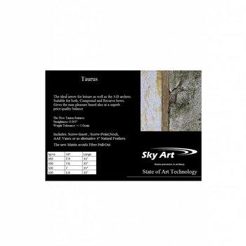 SkyArt Archery. SkyArt Taurus Komplett , Schraub Spitze und 4 Zoll Natur Feder.Selber Konfektionieren