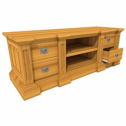 TV cabinet George 4 drawers, 2 open compartments
