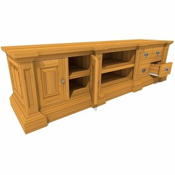 TV cabinet George 2 doors, 4 drawers, 2 open compartments