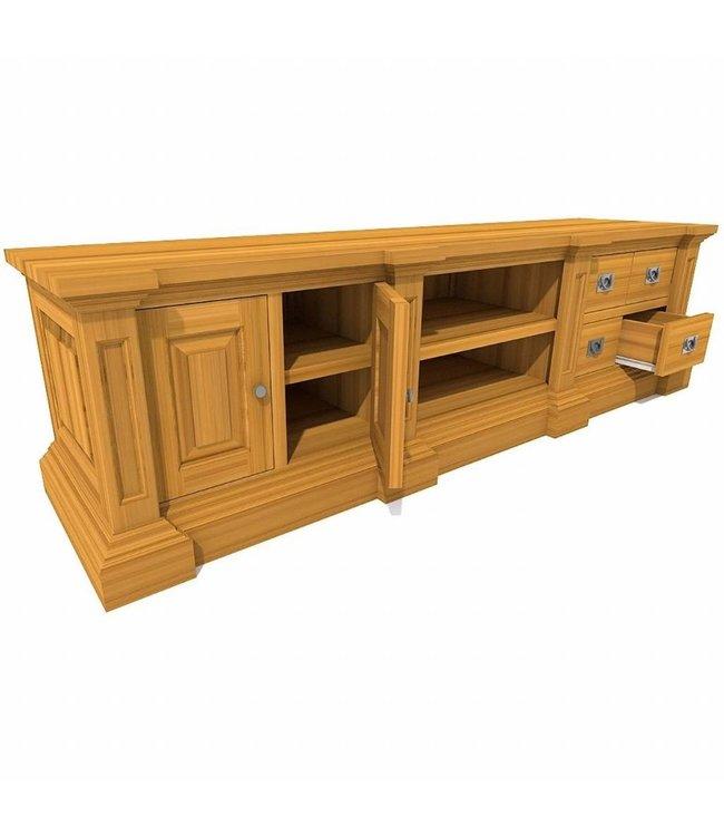 TV-Schrank George 2 Türen, 4 Schubladen, 2 offene Fächer