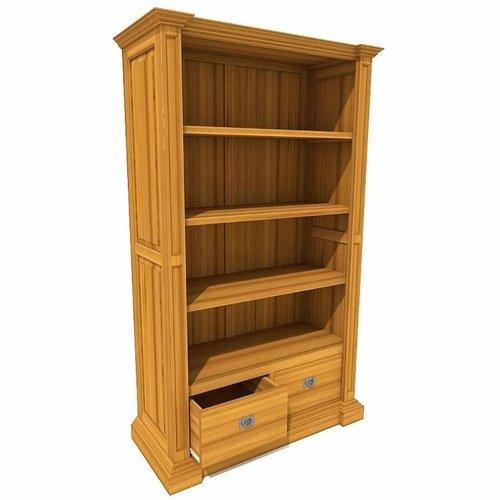 GEORGE Bücherregal 2 Schubladen, 4 offene Fächer