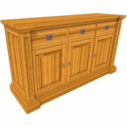 George sideboard 3 doors, 3 drawers