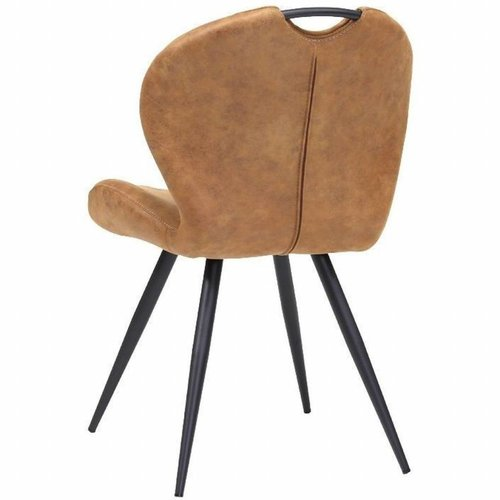 MX Sofa Dining room chair Miracle color: Cognac set of 2 pieces