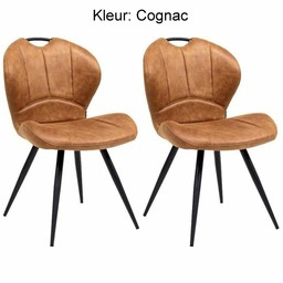MX Sofa MX Sofa Dining room chair Miracle color: Cognac set of 2 pieces