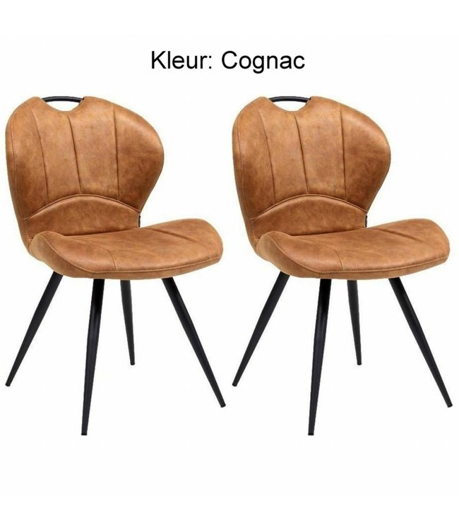 MX Sofa Dining room chair Miracle - Cognac (set of 2 pieces)
