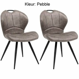 MX Sofa MX Sofa Dining room chair Miracle color: Pebble set of 2 pieces