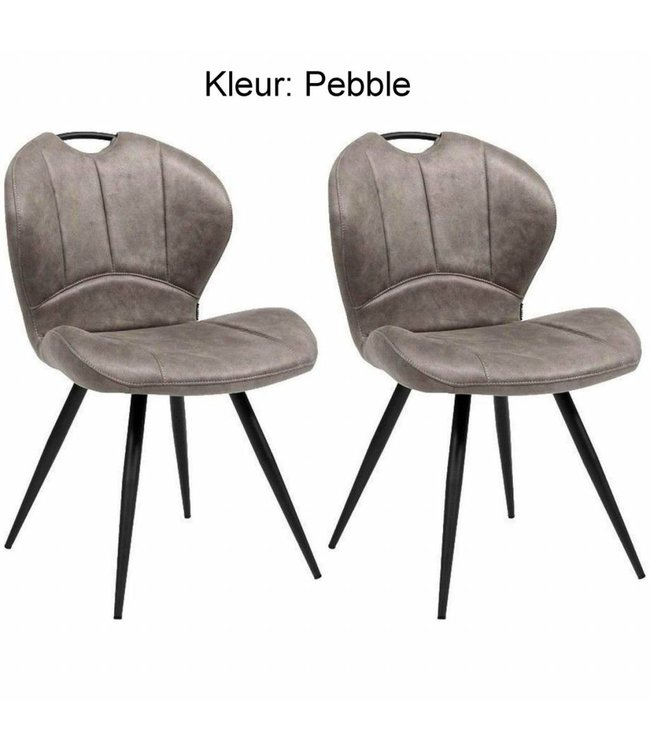 MX Sofa Dining room chair Miracle - Pebble (set of 2 pieces)
