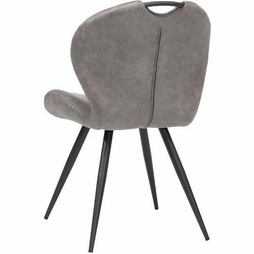 MX Sofa Esszimmerstuhl Wunderfarbe: Kiesel 2er-Set