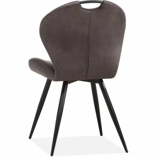 MX Sofa Dining chair Miracle color: Steel