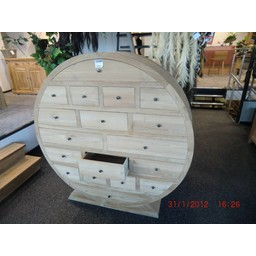 Round pharmacy cupboard