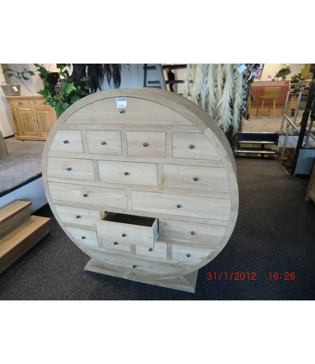 Round pharmacy cupboard
