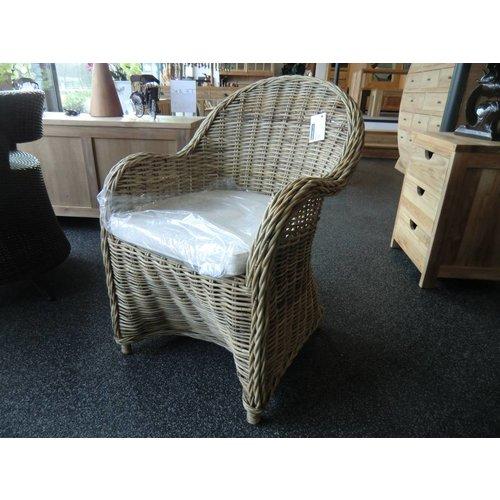 Decomeubel Rattan Chair Kubu Gray with Cushion